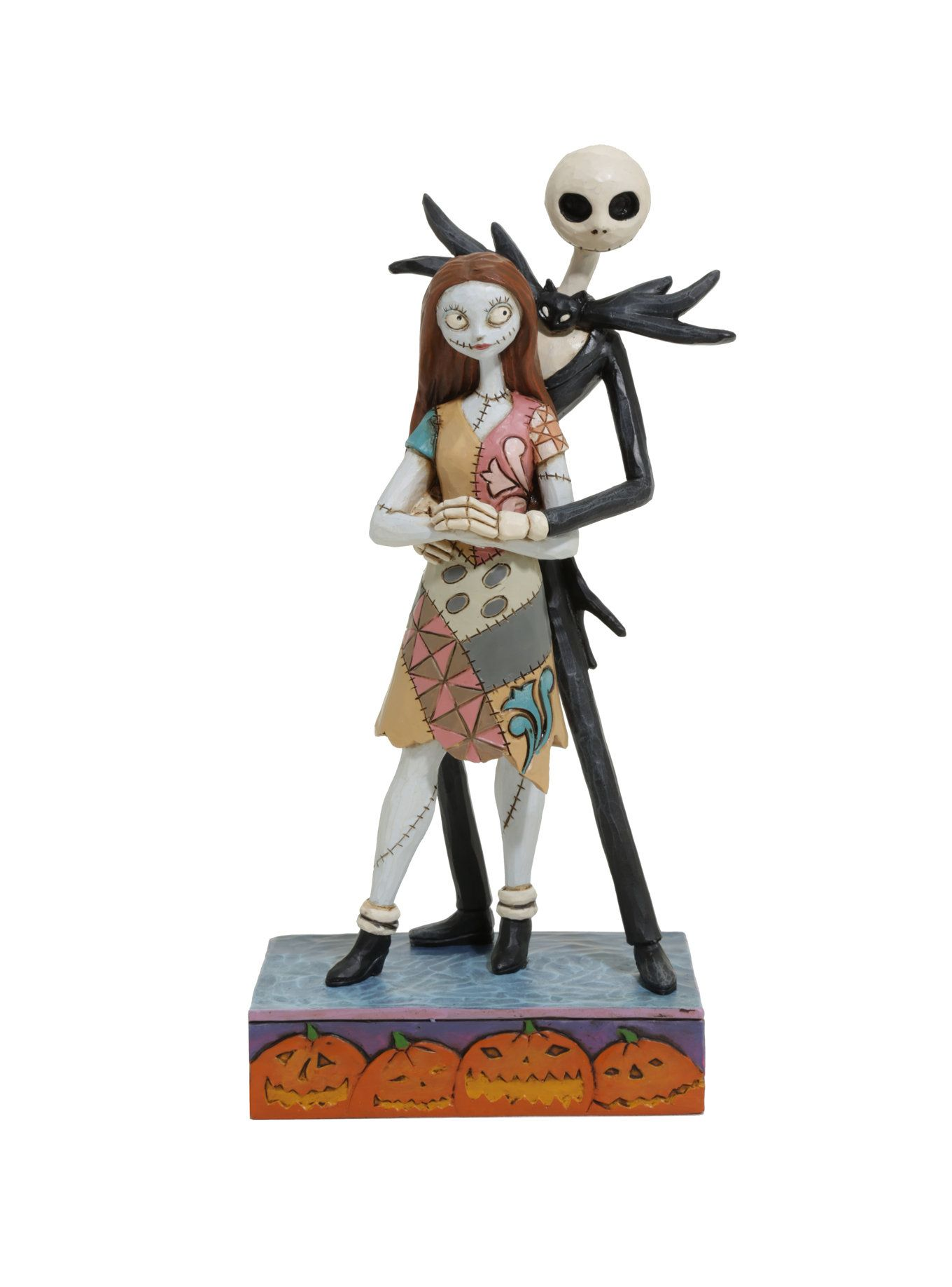 Hand Painted Fated Romance Stone Resin Figurine From The Disney Traditions Collection By Jim Shore Capturing A Tender Moment Between Jack Skellington