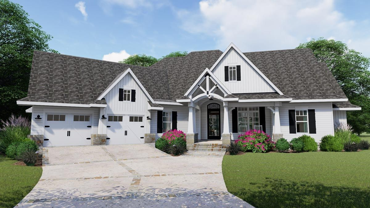 Exceptional Farmhouse House Plan with Craftsman Detailing