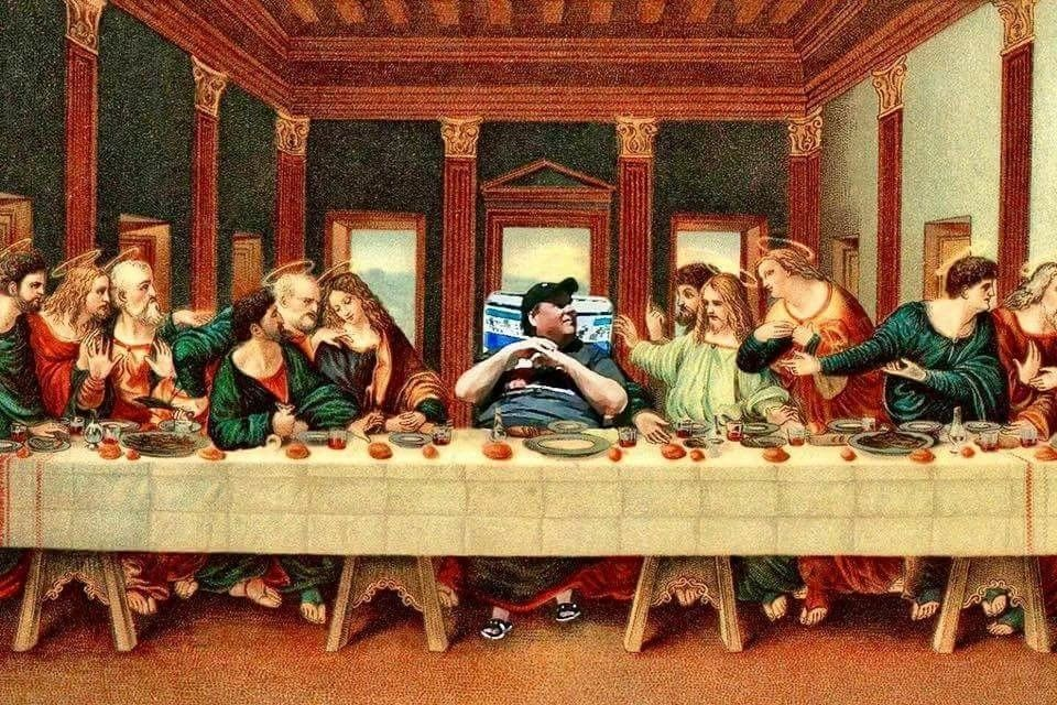 Related image Last supper, Art parody, Painting