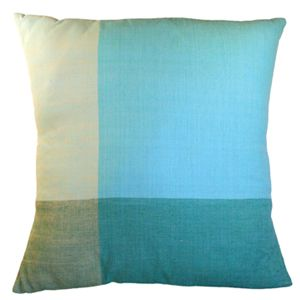 Bright Blue Color Block Pillow by Sustainable Threads