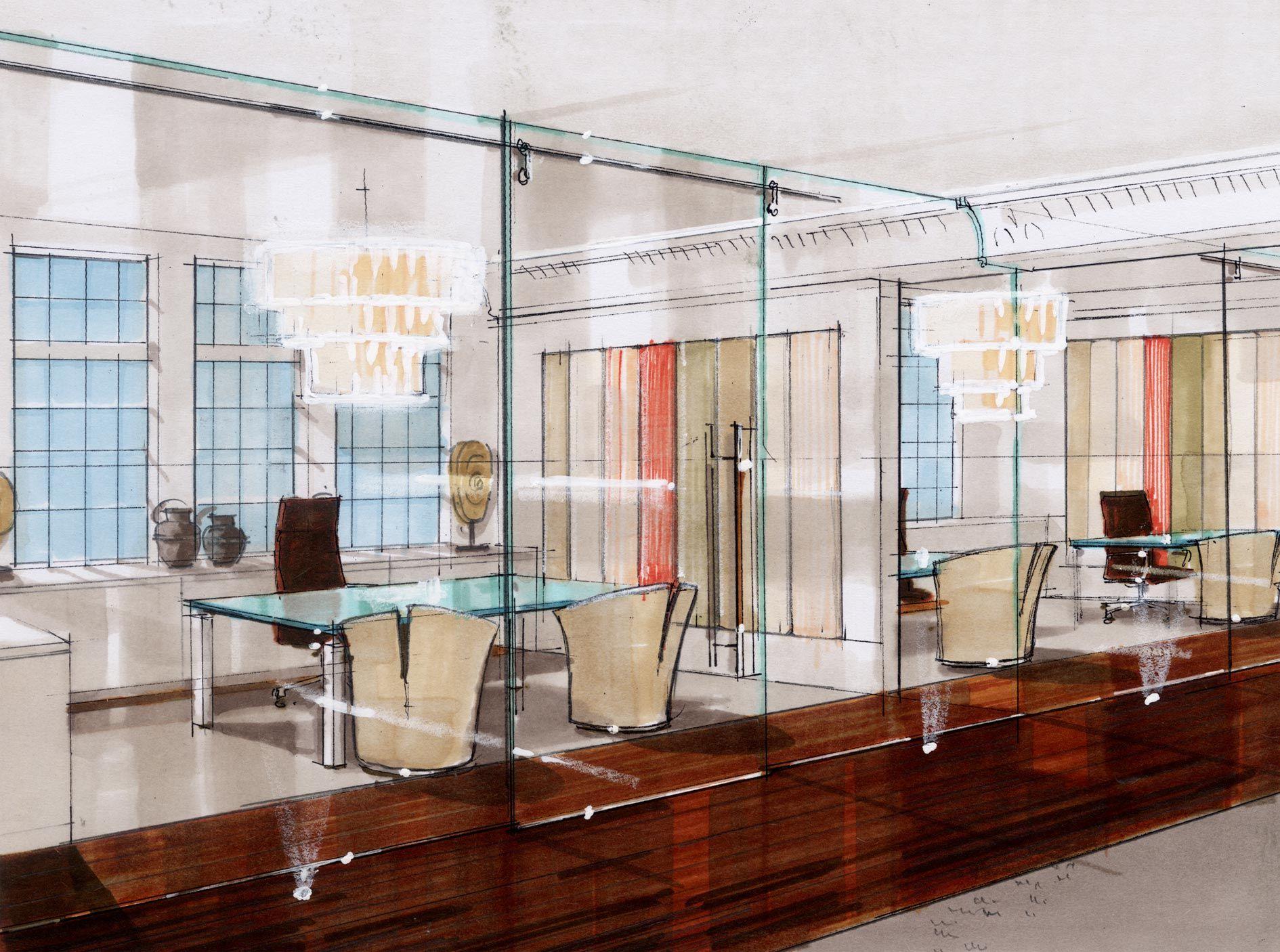 Remarkable Interior Design Sketches Kitchen Photo