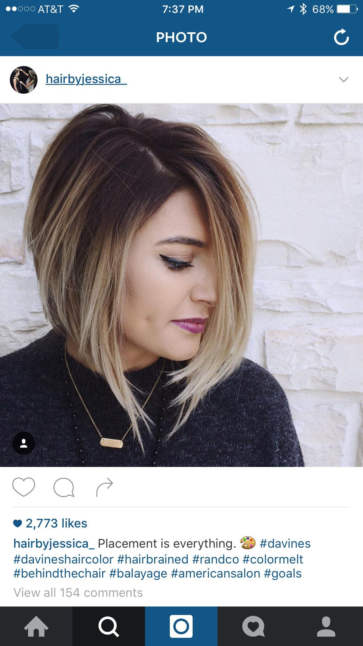 Pin by krystal hefner on happy hair pinterest hair style bobs