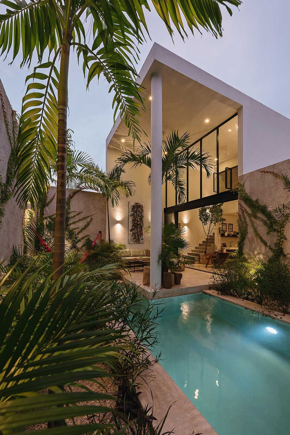 Casa Hannah In The Yucatan Plays With Double Heights To Feel Larger Vacation Home House Estate Homes