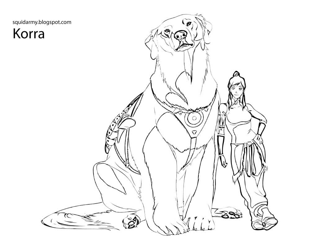 Avatar Legend of Korra Coloring pages Squid Army