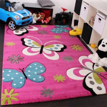 Kinder Teppich Schmetterling Design Grün Grau Schwarz Creme Pink U2013 Bild 1 |  Kinder, Sind Das Schöne Kinderteppiche | Pinterest