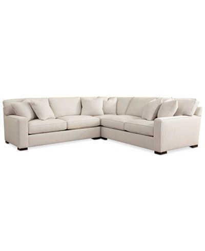 Kelly Ripa Ampton 3-Pc. Apartment Sectional with Wedge, Only at ...