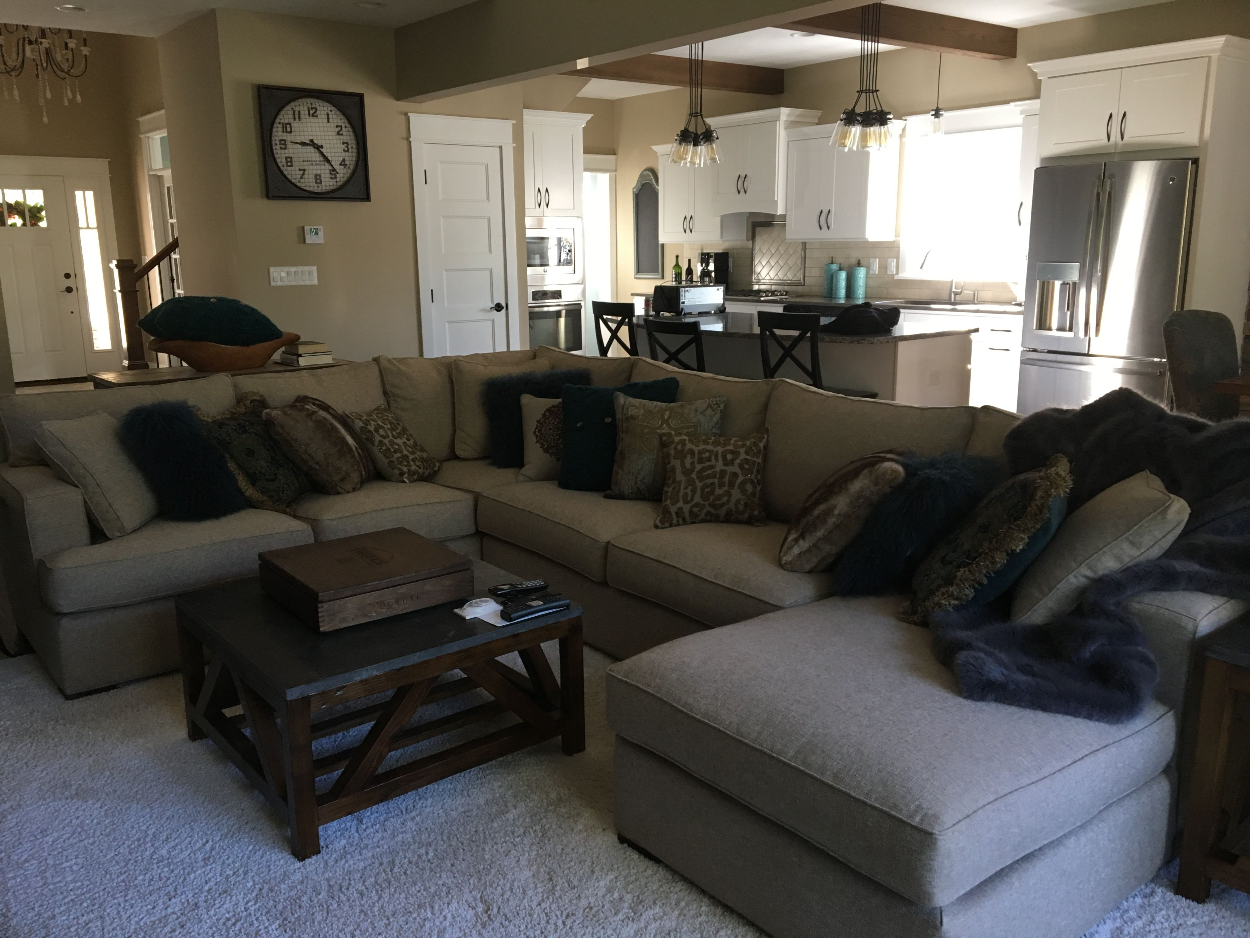 Arhaus dune sectional in theater champagne holden coffee for Arhaus furniture