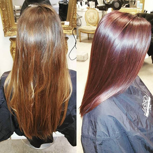 Top 100 plum hair color photos Når kulden kommer blir mange hårfarger varmere 😍  #bohemenfrisør #bohemenfrisorer