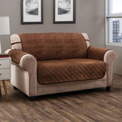 Swell Prism Secure Fit Extra Large Sofa Protector In Saddle In Machost Co Dining Chair Design Ideas Machostcouk