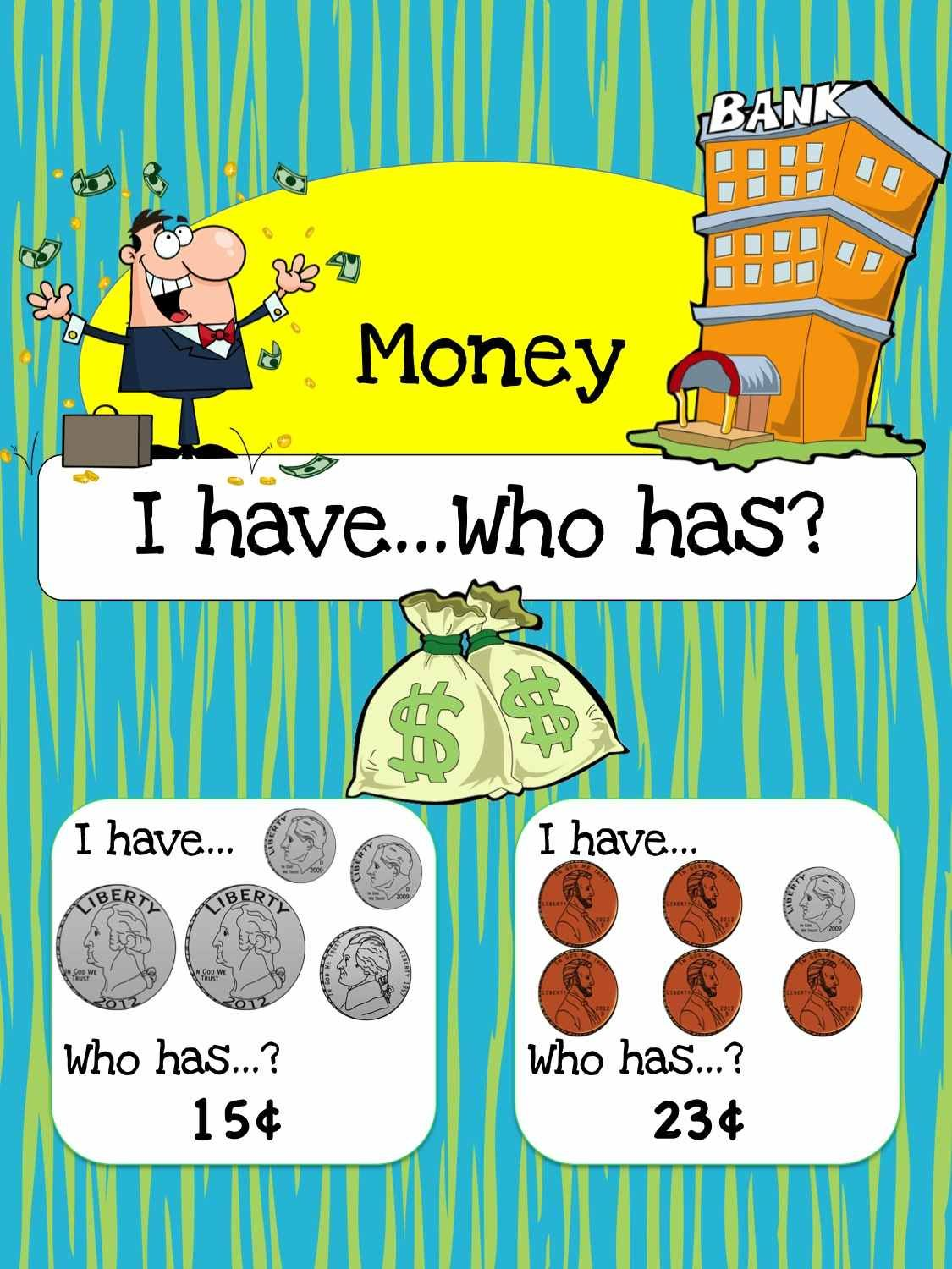 Free Printable Math Game: Money I have, who has? | Printable math ...