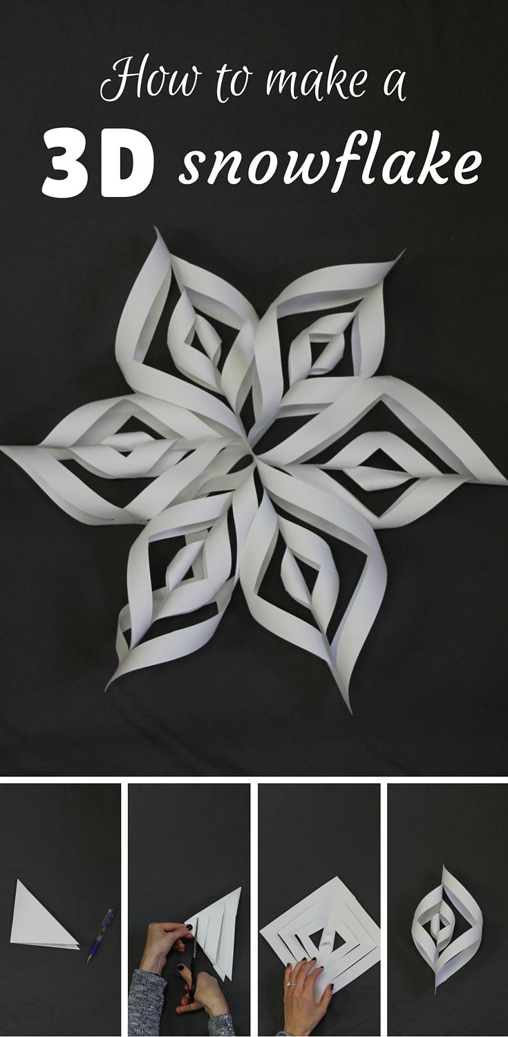 how to make a 3d snowflake 3d snowflakes step guide and renting