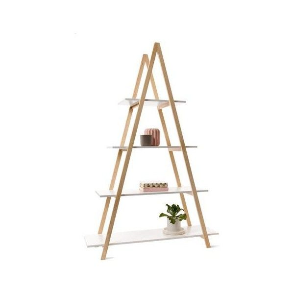 Kmart A Frame Bookshelf Liked On Polyvore Featuring Home Furniture Storage Shelves And Bookcases A Frame Bookshelf Bookshelves Interiors Addict