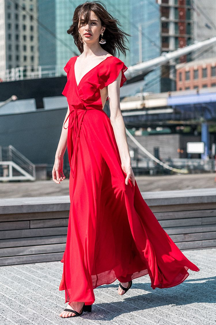 Full bloom maxi dress in pictures pinterest red maxi