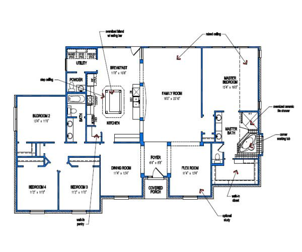 Shiloh Floor Plan By Tilson Homes House Floor Plans Floor Plans House Plans