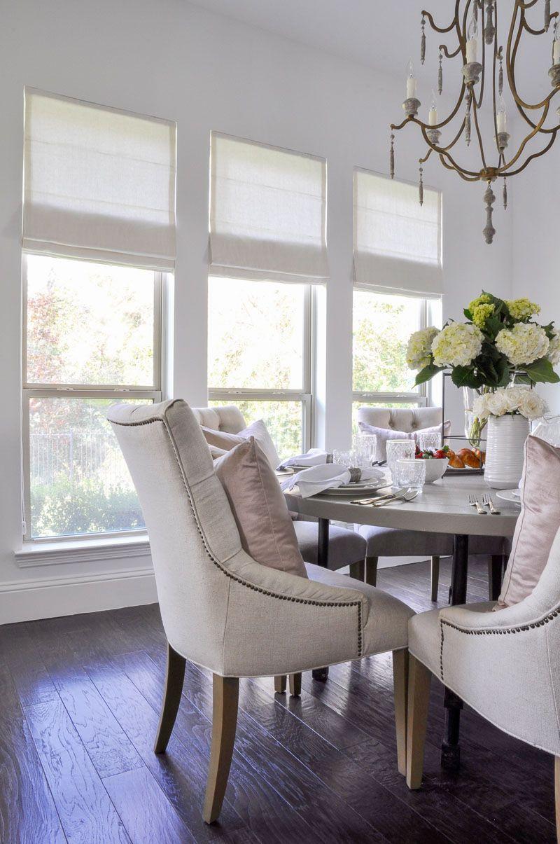 Beautiful New Roman Shades Featuring Dining Room Design Roman