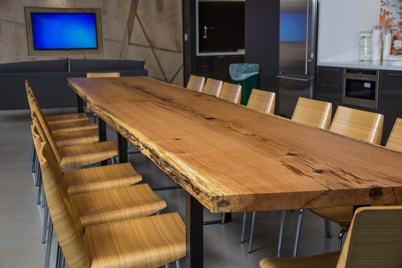 Cool Red Oak Conference Table Steel Hoop Legs House In 2019 Download Free Architecture Designs Crovemadebymaigaardcom