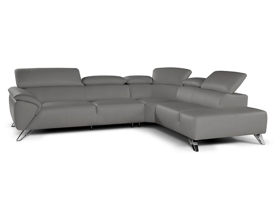 Tesla Leather Sectional Sofa By Ju0026M Furniture Nicoletti