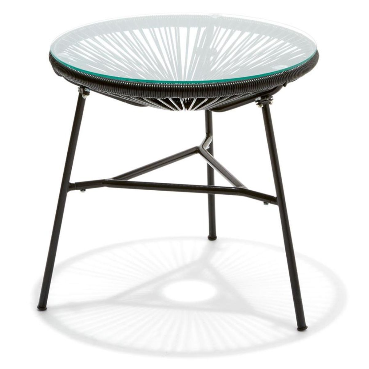 Kmart Kitchen Table | Acapulco Replica Side Table Black Kmart 阳台 户外balcony