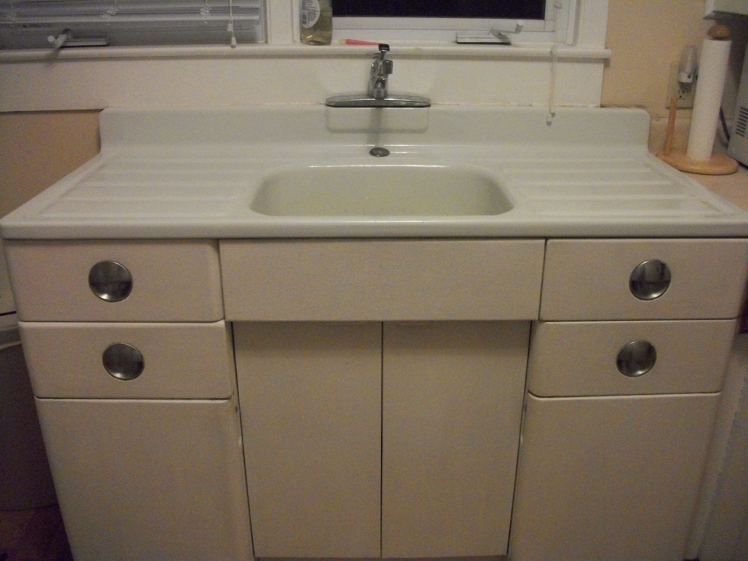 Metal Kitchen Cabinet And Porcelain Sink For Sale Antiques In