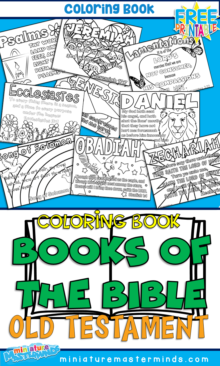 Books of the old testament coloring pages