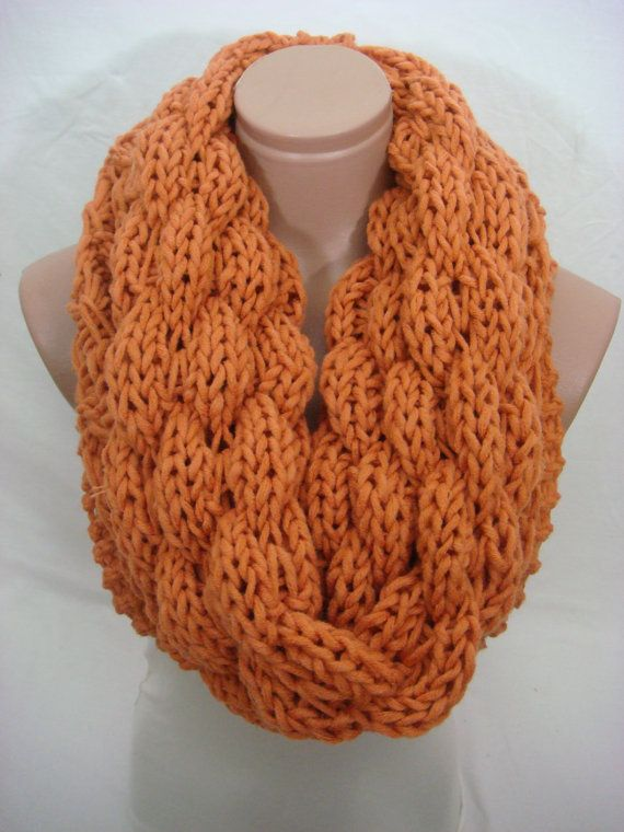 Knitted Double Pattern Hooded Cowl/Scarf/Neck Warmer (Dark ...