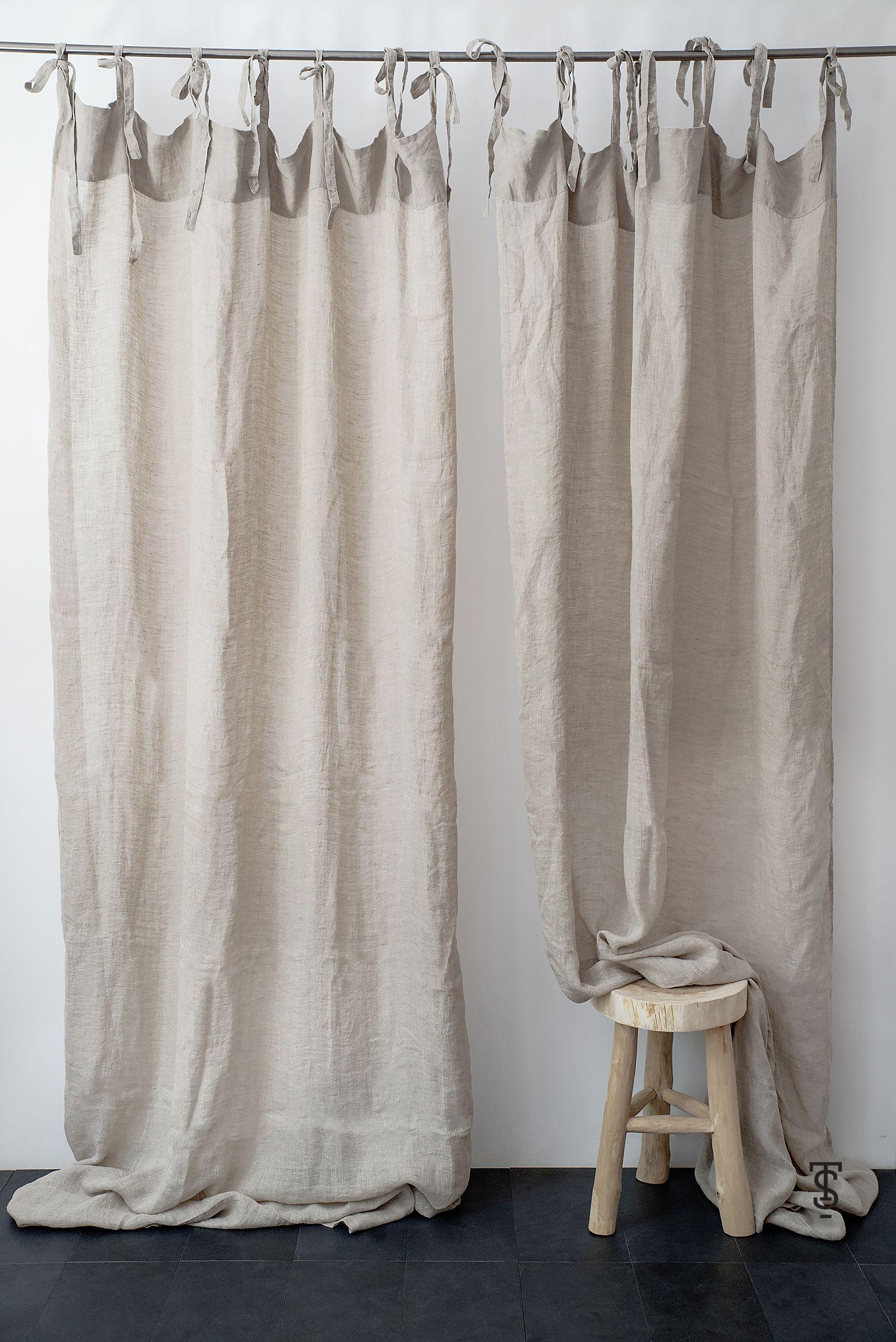 Color Block Linen Curtain Panel Linen Curtain Panels Linen