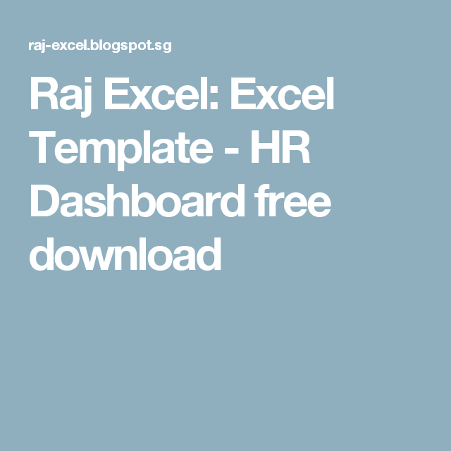 Raj Excel Excel Template  Hr Dashboard Free Download  Useful