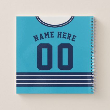Name Number Hockey Jersey Notebook Template Zazzle Com Custom Sports Jerseys Templates Hockey