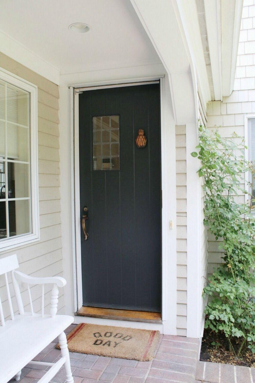 Sherwin Williams Iron Ore Front Door Update Doors Iron