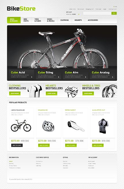 Bikes  Spares Opencart Template  Template