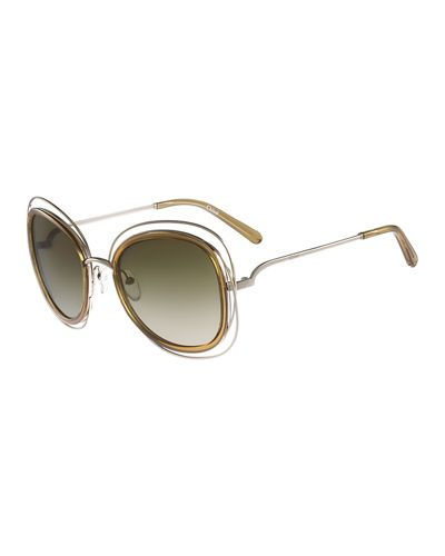 64a262a52b8 Carlina Trimmed Butterfly Sunglasses