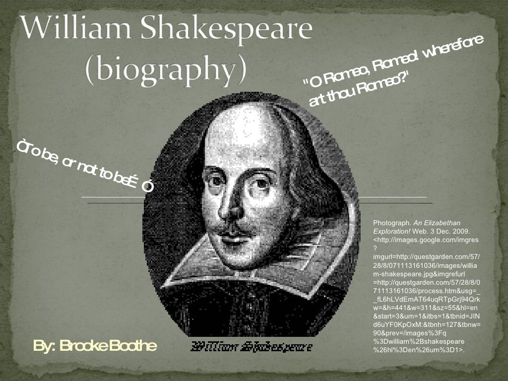 William Shakespeare Biography By Brookems Via