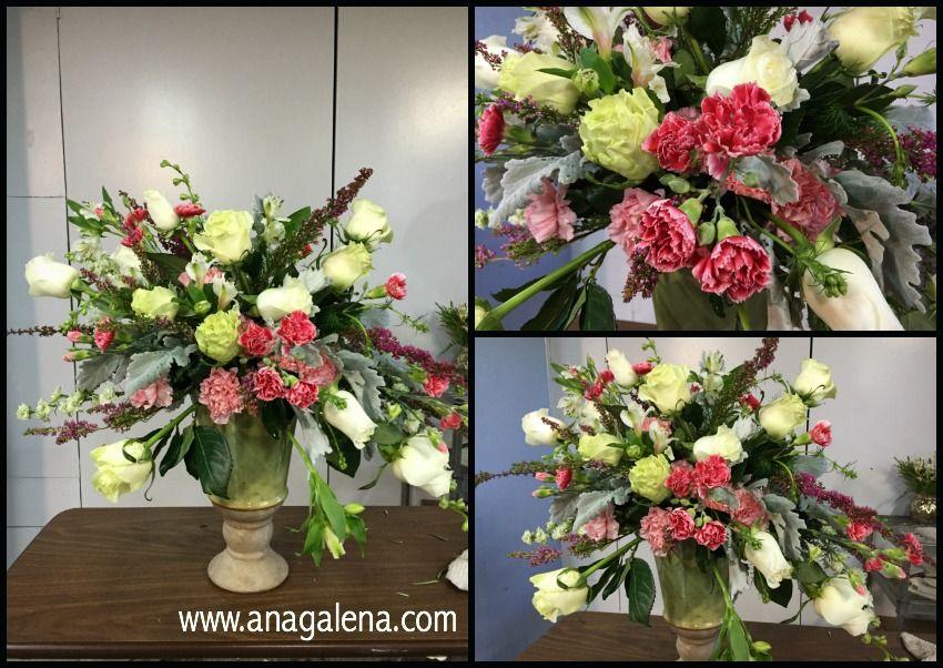 Como hacer un arreglo de flores en urna con soltura y movimiento. – Ana Galena