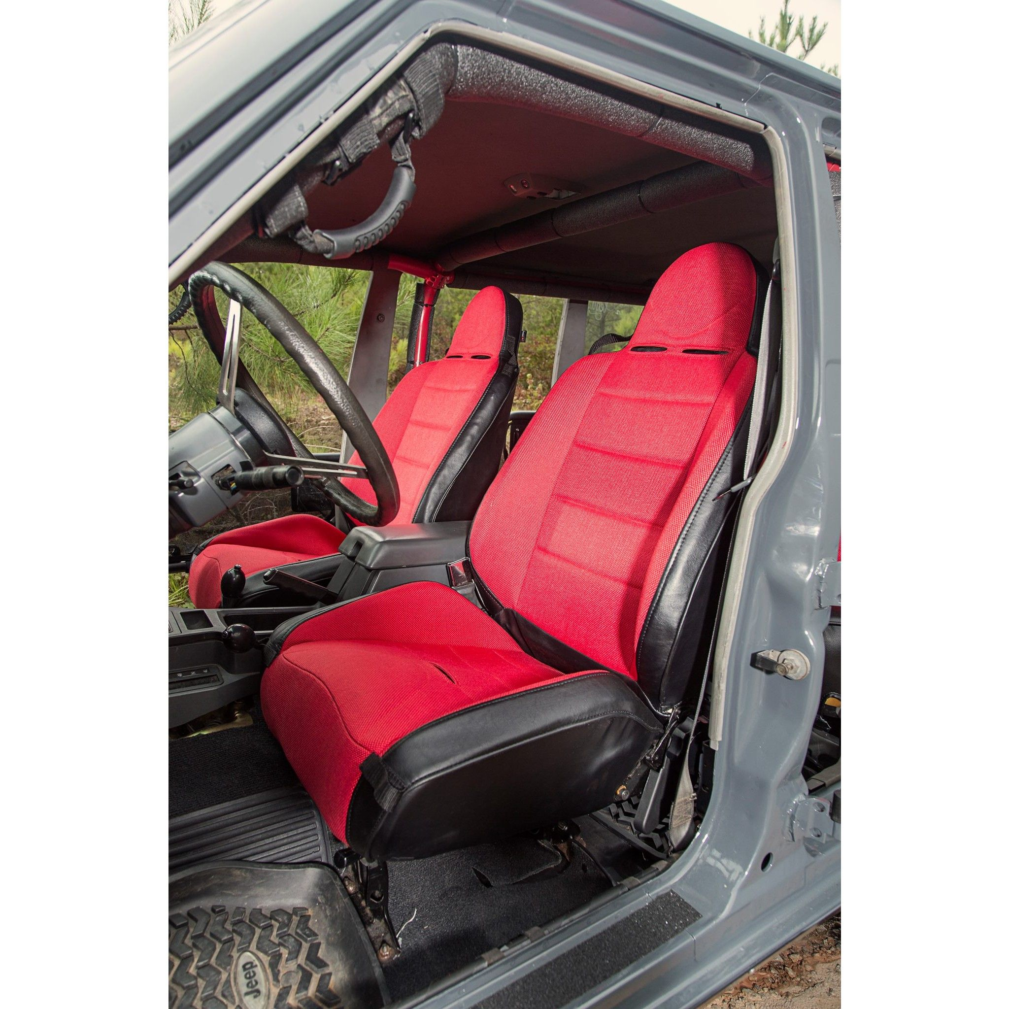 Rrc Off Road Racing Seat Reclinable Red 76 02 Cj Wrangler Yj Tj