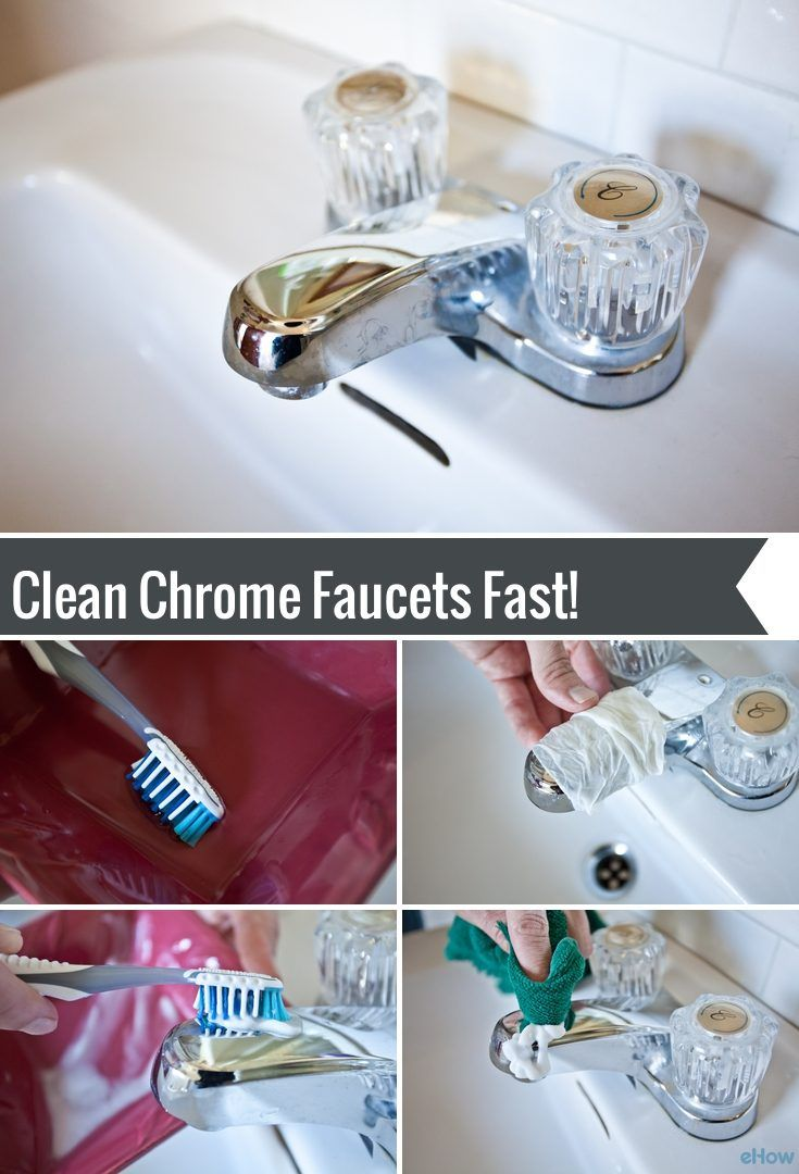 How to Clean Chrome Faucets | Faucet, Bathroom cleaning and Cleaning ...