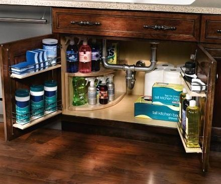 Organizing Under the Sink - The space under the kitchen sink is a ...