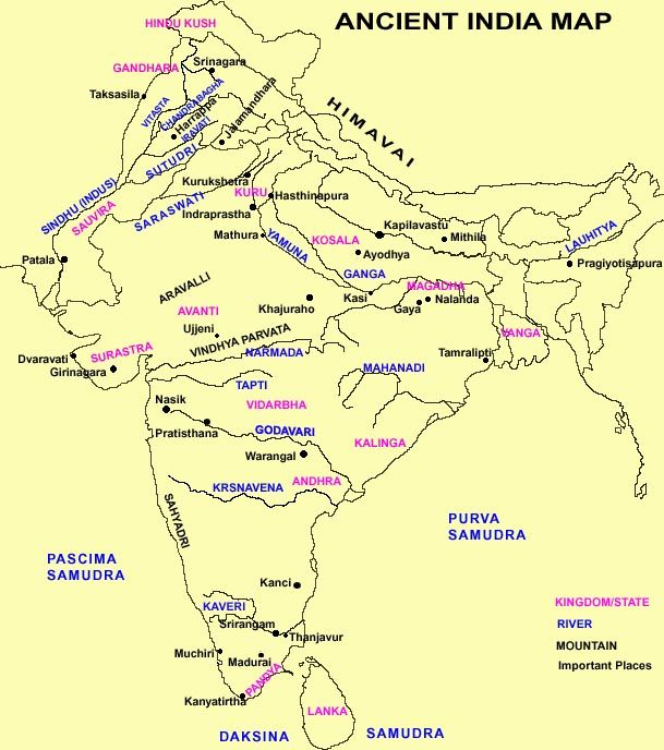Ancient India Map | The Age of Kali Series Board | Pinterest