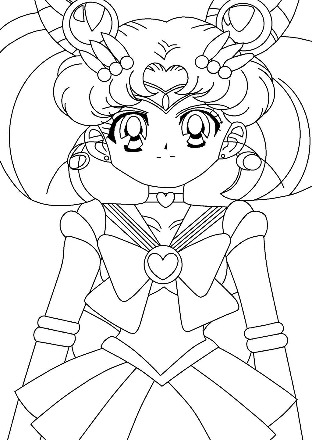 Sailor Mini Moon introduced-lineart by Mickey103 | Sailor ...