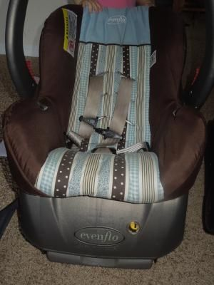 Evenflo Car Seat Blue Brown For Infant Baby Car Seats Car Seats