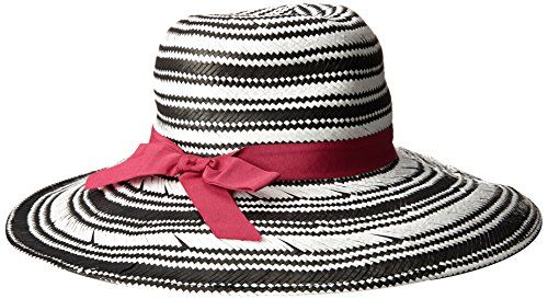 80bd57c4 Physician Endorsed Women's Sanibel Two-Tone Packable Fedora Sun Hat with  Stripe Ribbon