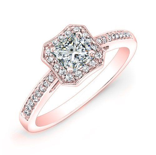Rose Gold Engagement Rings Tiffany Rose Gold Halo Engagement Ring