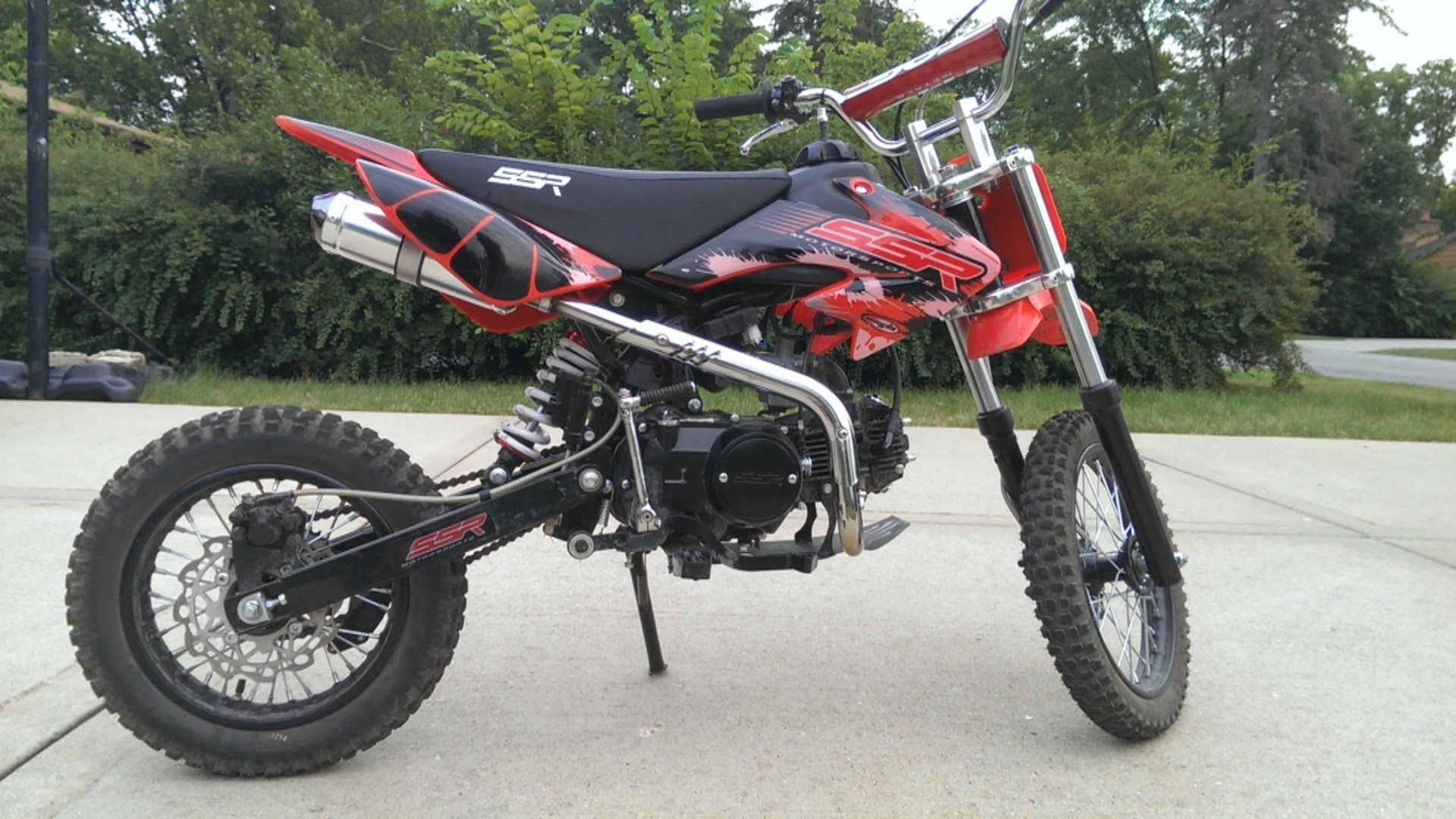 2013 ssr 125cc pit bike review and fly