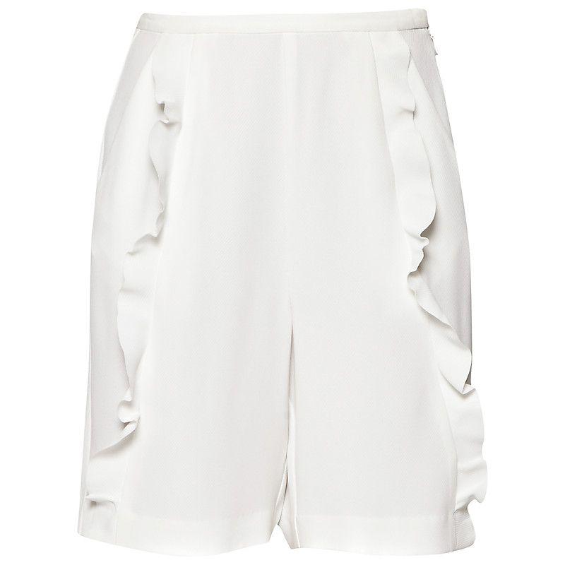 Buy French Connection Aro Crepe Shorts, Summer White | John Lewis