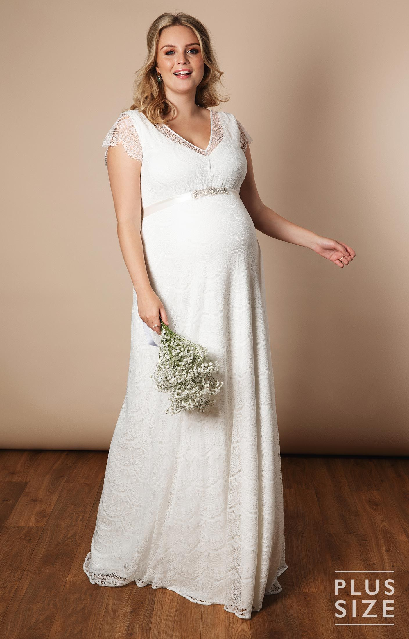 Kristin Plus Size Maternity Wedding Gown Long Ivory White Maternity Wedding Dresses Evening Wear And Party Clothes By Tiffany Rose Pregnant Wedding Dress Wedding Dresses Plus Size 1920s Style Wedding Dresses [ 2200 x 1408 Pixel ]
