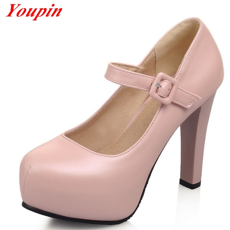 26.98$  Watch here  - Spring 2015 fashion shoes, sexy and comfortable high-heeled shoes, head women's high-heeled shoes 32-43