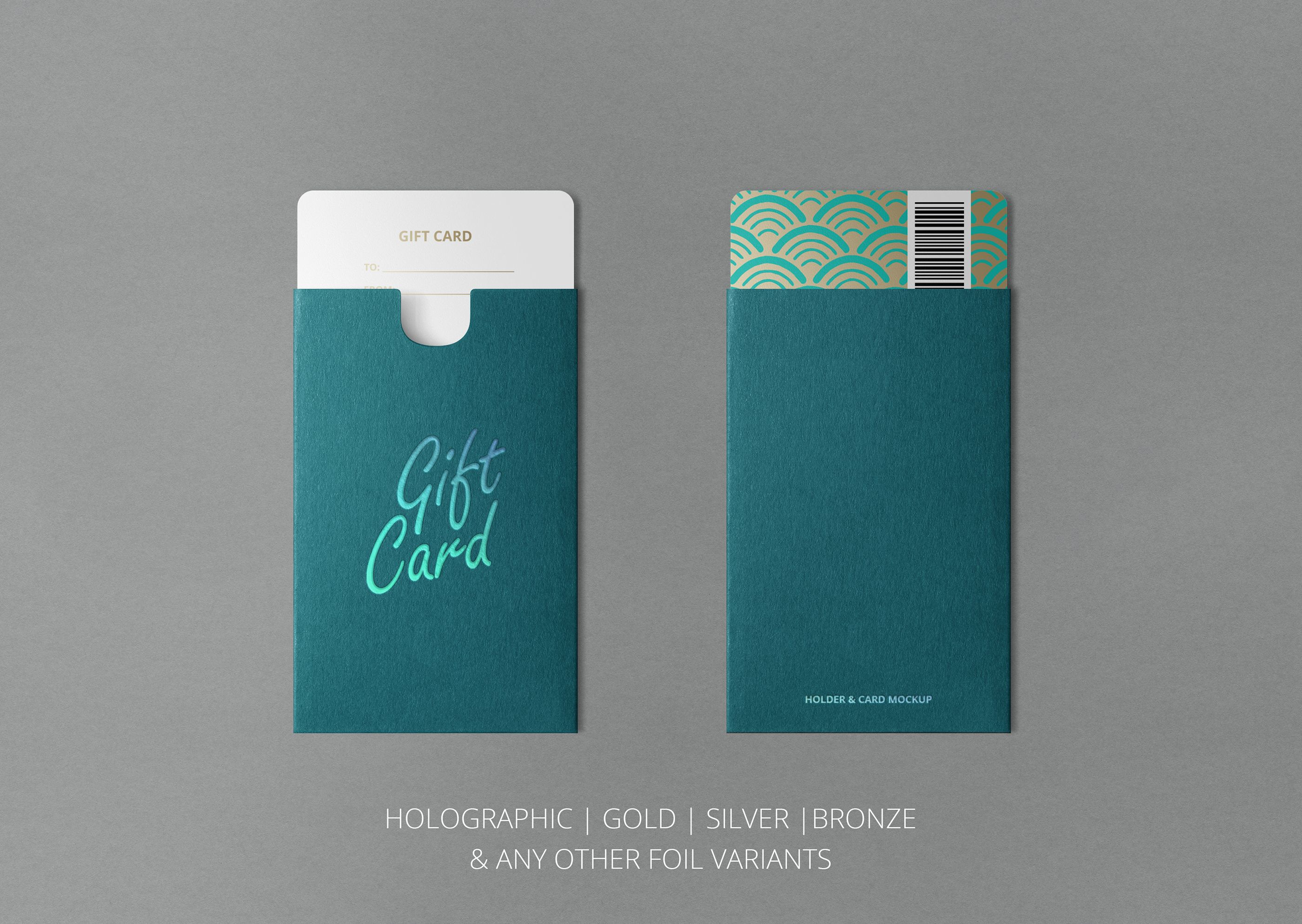 gift card or key card mockup download from clevery design design