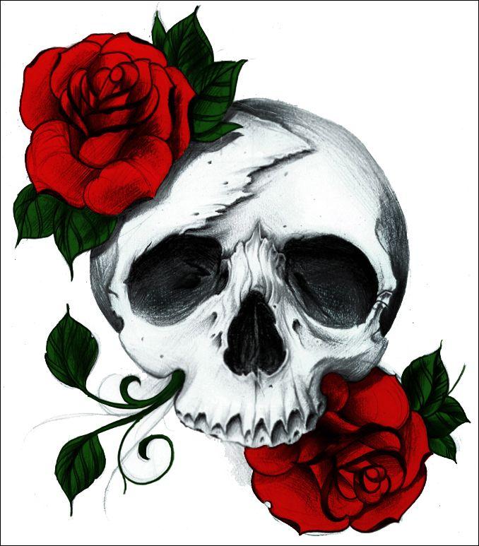 Hand Drawings Roses And Skulls: Skullspiration.com