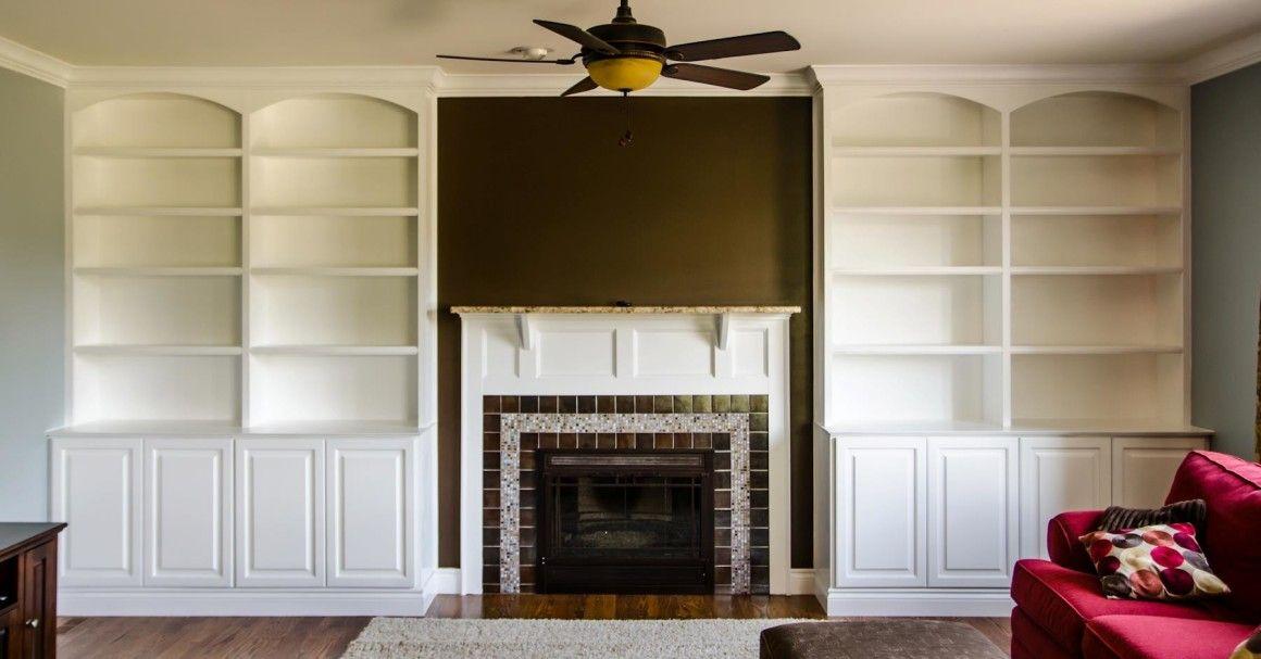 Living Room Builtins In Novi  Labra Design  Build  Our House Prepossessing Living Room Built Ins Review