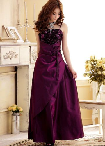 Shimmery-Party-Semi-Formal-Prom-Long-Girls-Dress-Sz-12-yr-Teen-Fushia-Purple -S-M be09e19bf