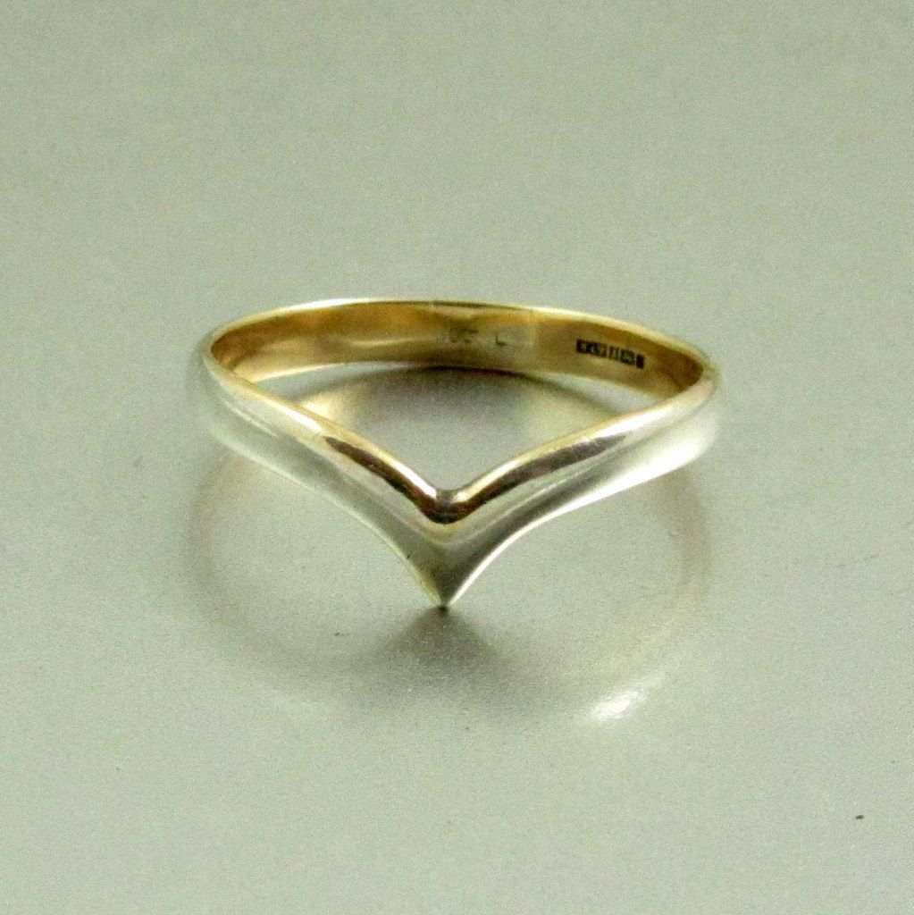 Vintage Sterling Silver Chevron Ring, US Size 7 Half, UK Size O Half by mybooms on Etsy